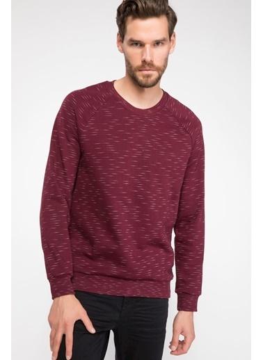 DeFacto Basic Sweatshirt Bordo